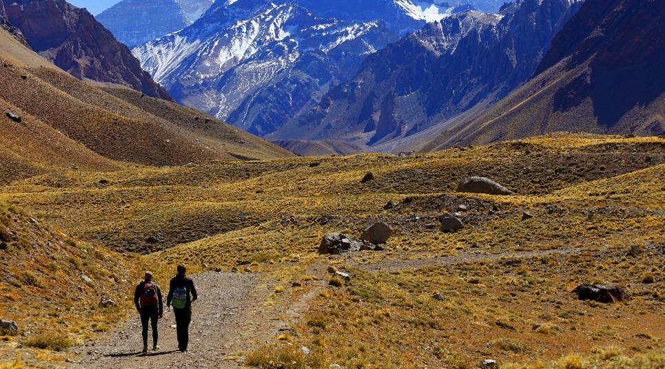 A paisagem de Mendoza é composta pelas cordilheiras