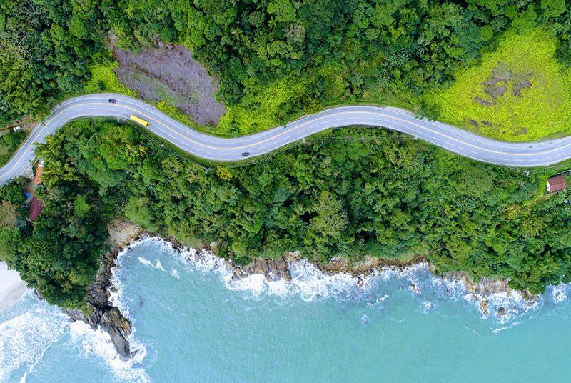 Rodovia Rio-Santos vista de cima