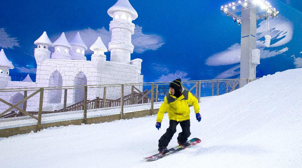 Prática de Snowboard (Foto: divulgação)
