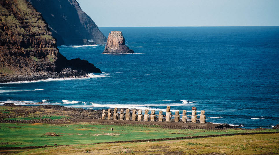 Praia Ahu Tongariki