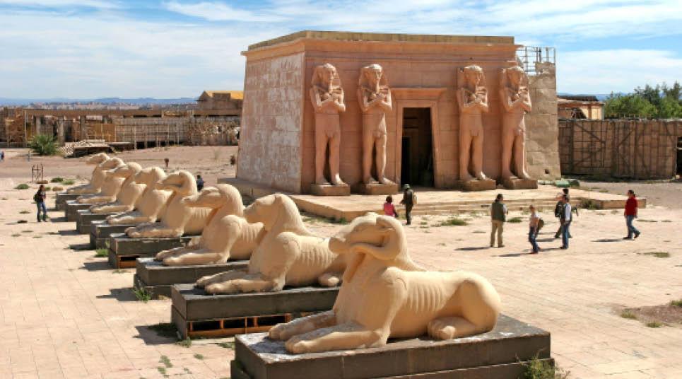 Em seguida, após a natureza, o Atlas Studio, responsável por tornar Ouarzazate a Hollywood marroquina (foto: divulgação)