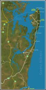 mapa da península