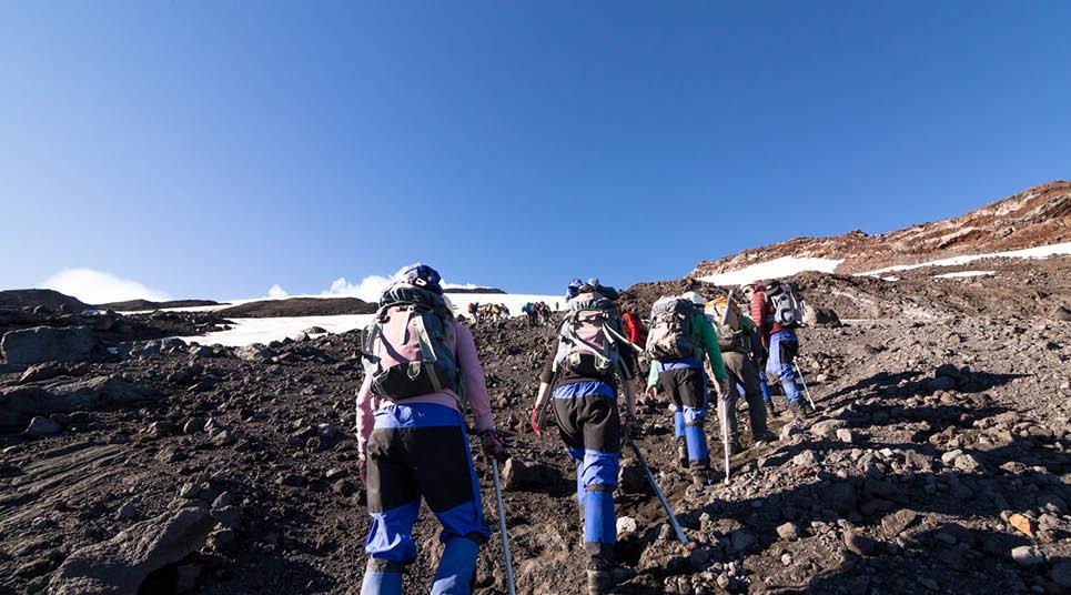 Caminhada no vulcão