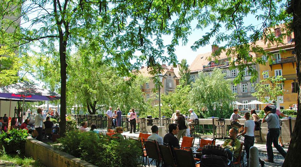 Cafés em Liubliana
