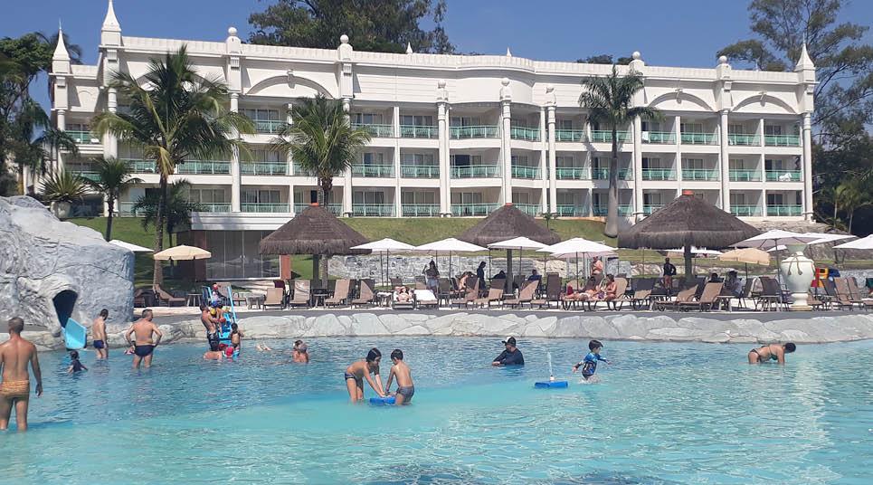 A piscina infantil é a maior do resort ( foto: Tarcila Ferro)