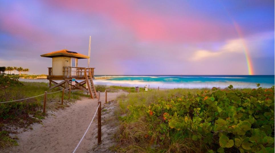 Praia da região de Boca Raton