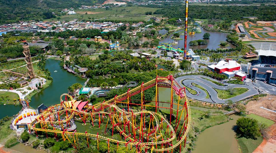 Visão de cima do Parque