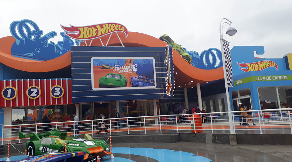 Restaurante e loja Hot Wheels