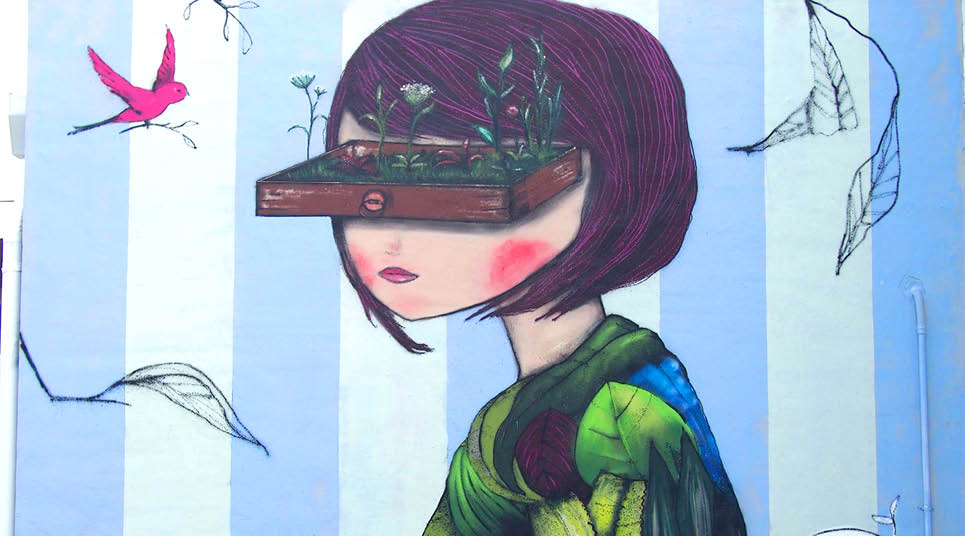 Grafite por Jú Violeta
