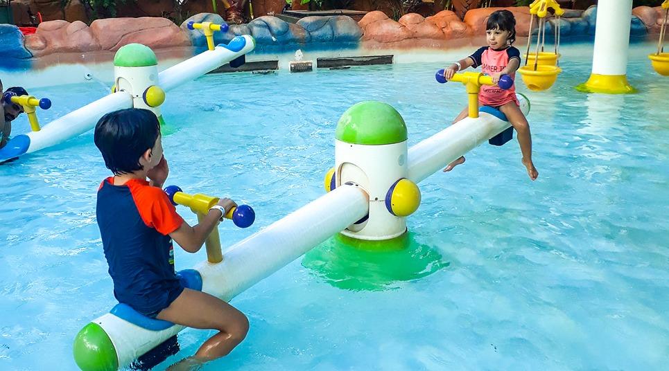 Atração infantil no Hot Beach Olímpia