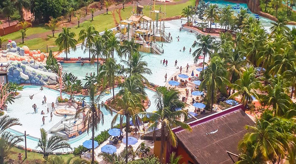 Vista aérea do Hot Beach Resort