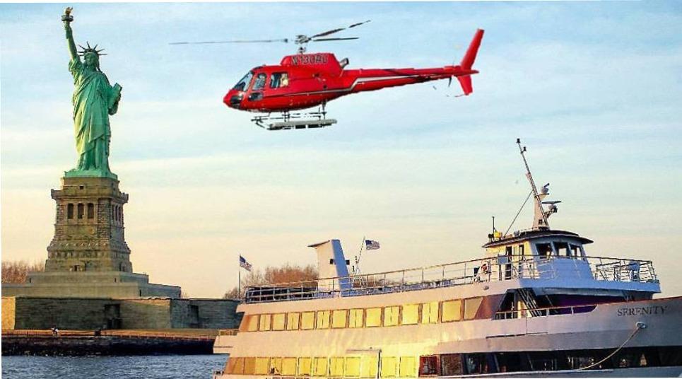 Sobrevoo de helicóptero em Nova York