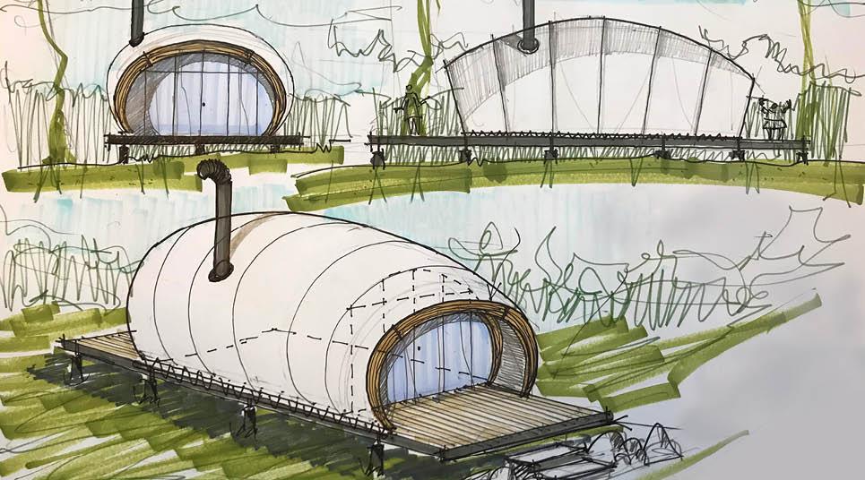 Estudo arquitetônico das novas barracas do glamping Parador, em Cambará do Sul