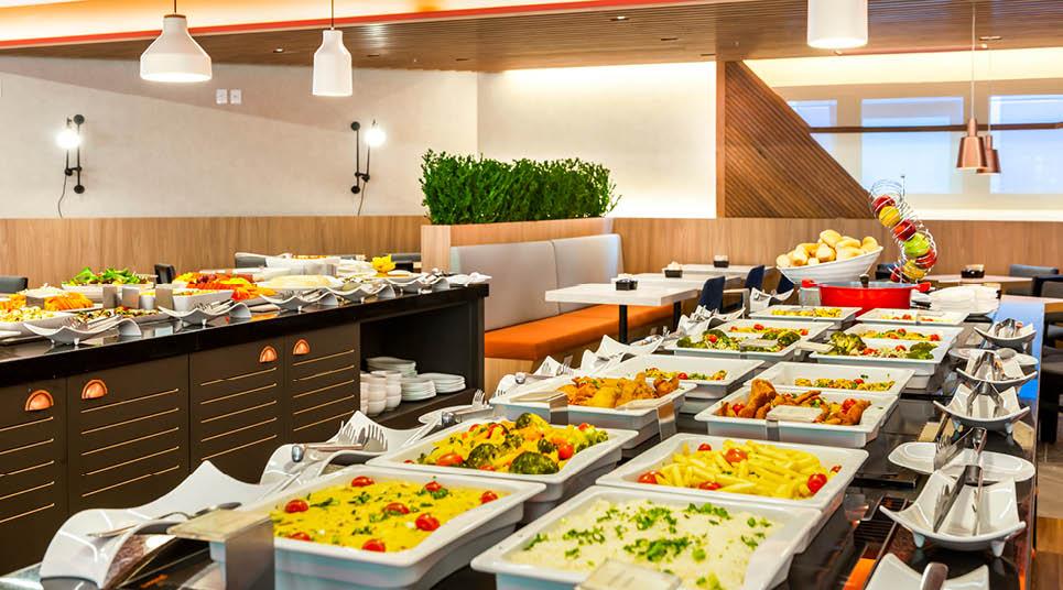 Café da manhã do Hampton by Hilton Guarulhos Airport