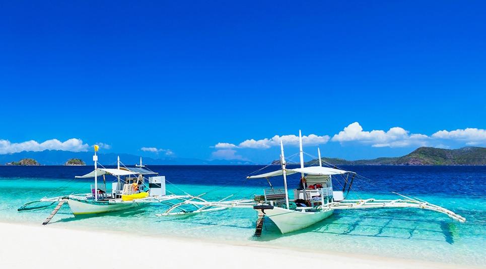 Passeio de barco nas Filipinas