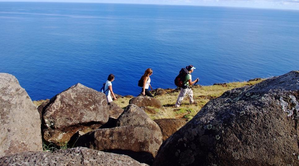 Caminhada na Ilha de Páscoa