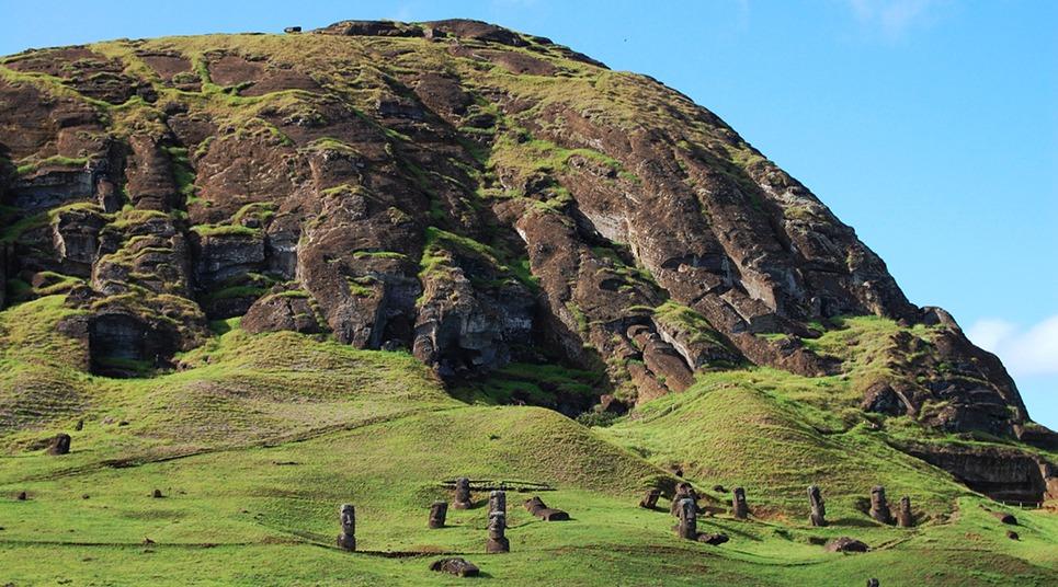 O vulcão Rano Rararaku