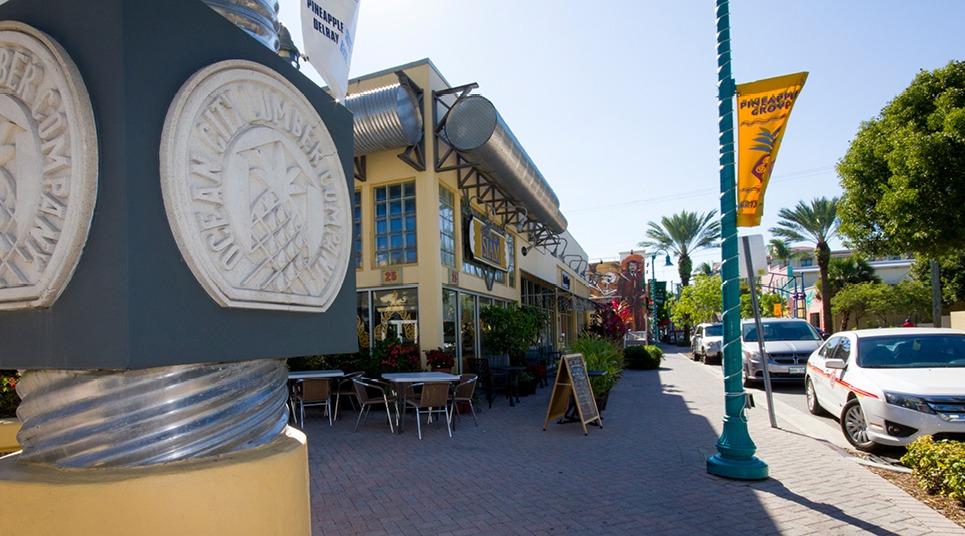 O distrito de Pineapple Grove, em Delray Beach