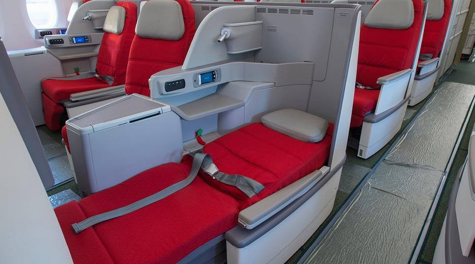 Poltronas reclináveis da Ethiopian Airlines