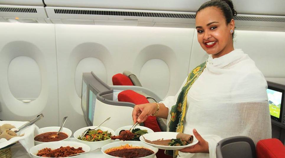 Serviço de bordo da Ethiopian Airlines