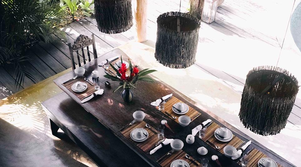 Restaurante do hotel Uxua