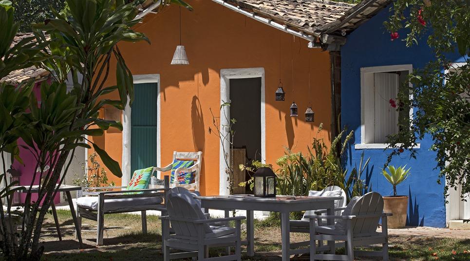 Casas coloridas em Trancoso