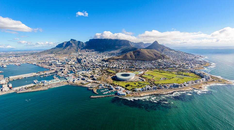 Vista aérea da Cidade do Cabo