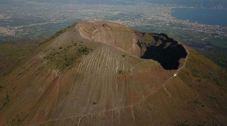 Vista aérea do Monte Vesúvio