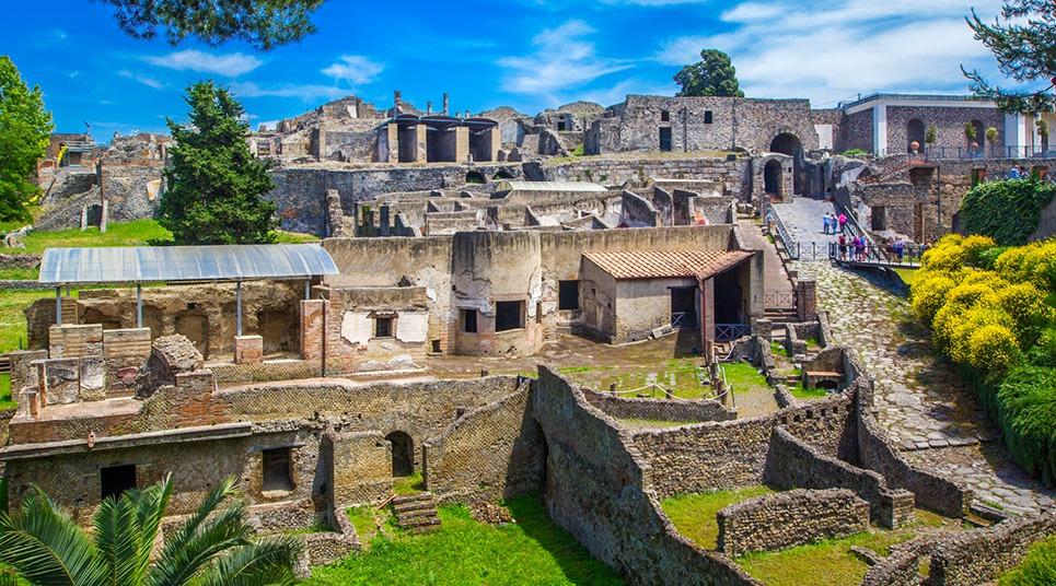 Ruas e casas de Pompeia