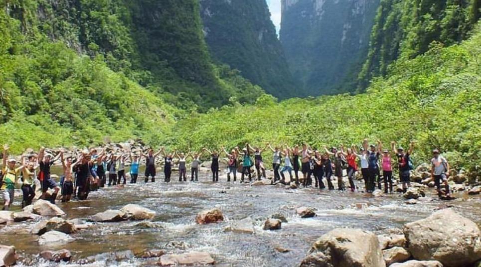 Contato com a natureza em Cambará do Sul