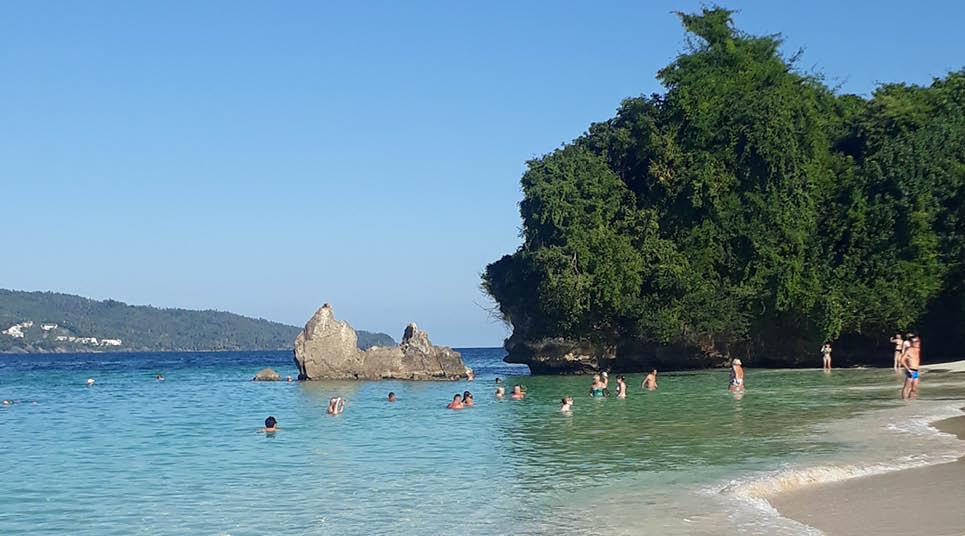 Praia em Cayo Levantado