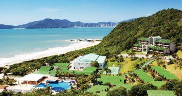 Vista aérea do Infinity Blue Resort & Spa