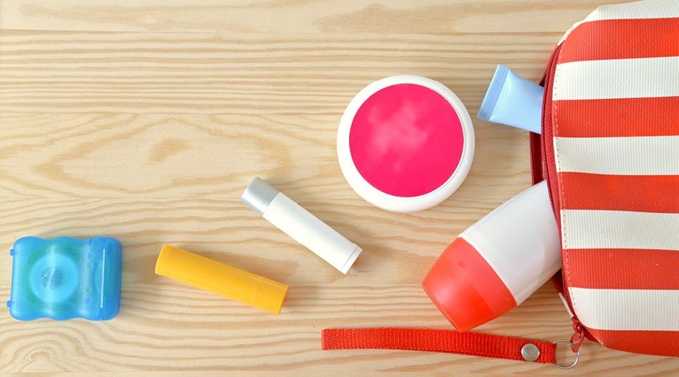 Itens de higiene e hidratantes também devem ser levados