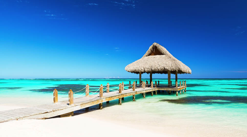Gazebo em praia de Punta Cana