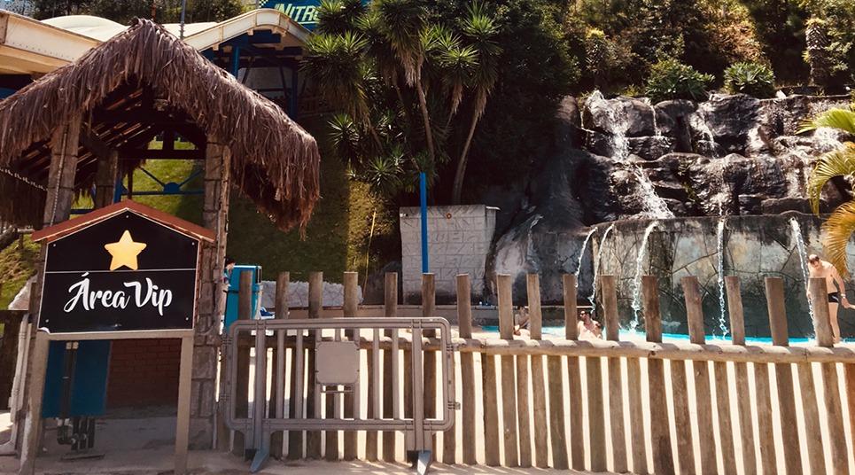 Área Vip do parque aquático