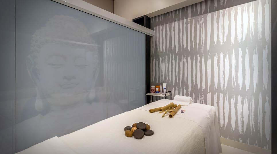 Sala de terapias do Tanmatra Spa