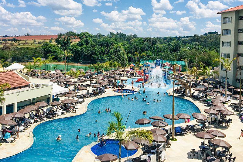 Área externa do Tauá Resort Atibaia