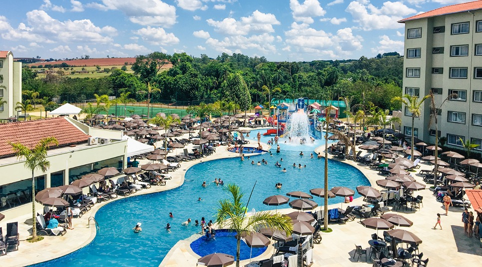 Área externa do Tauá Resort Atibaia
