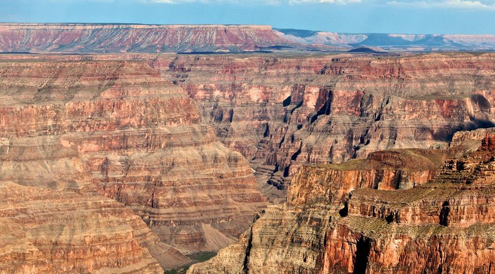 Grand Canyon visto de um helicóptero