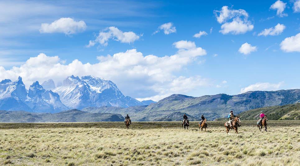 As cavalgadas são uma opção de passeio