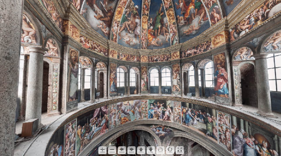 Tour virtual pelo Domo pintado por Pordenone