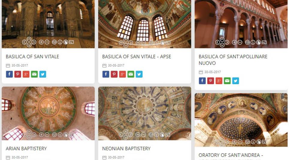 Tour virtuais em Ravena