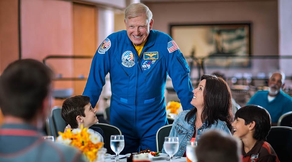 Almoço com astronauta