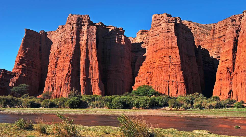 Formações rochosas na Quebrada de las Conchas