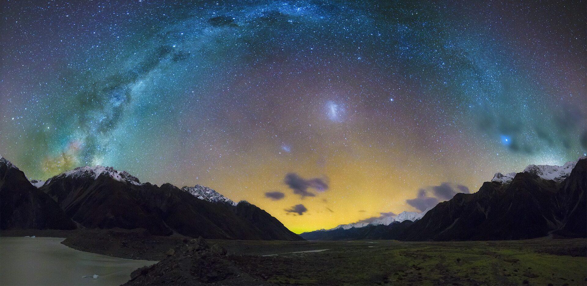 Estrelas na Nova Zelândia