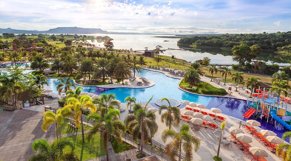 Piscina do Malai Manso Resort