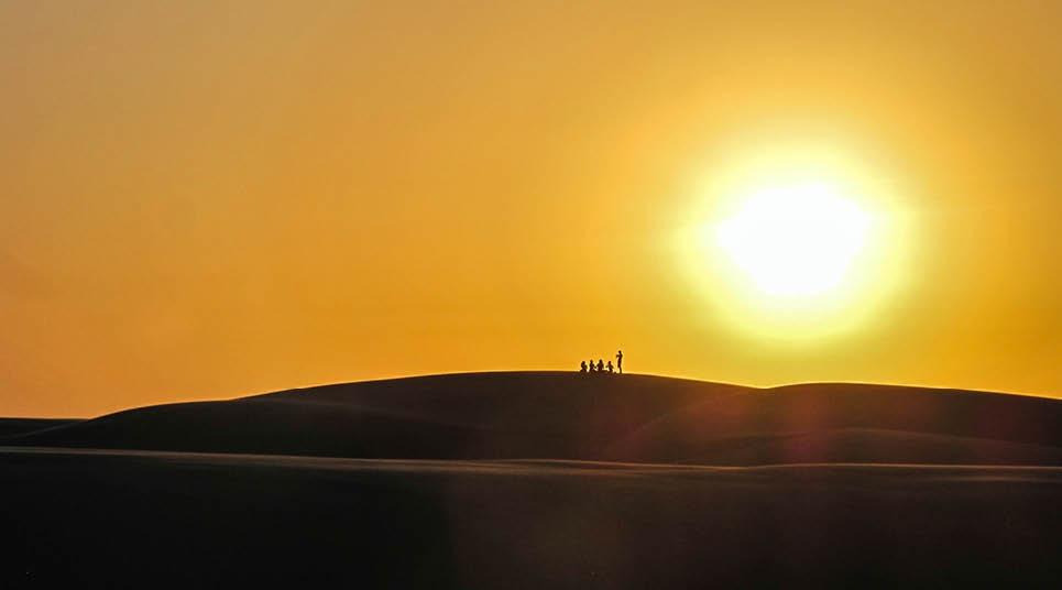 Pôr do sol em Atins