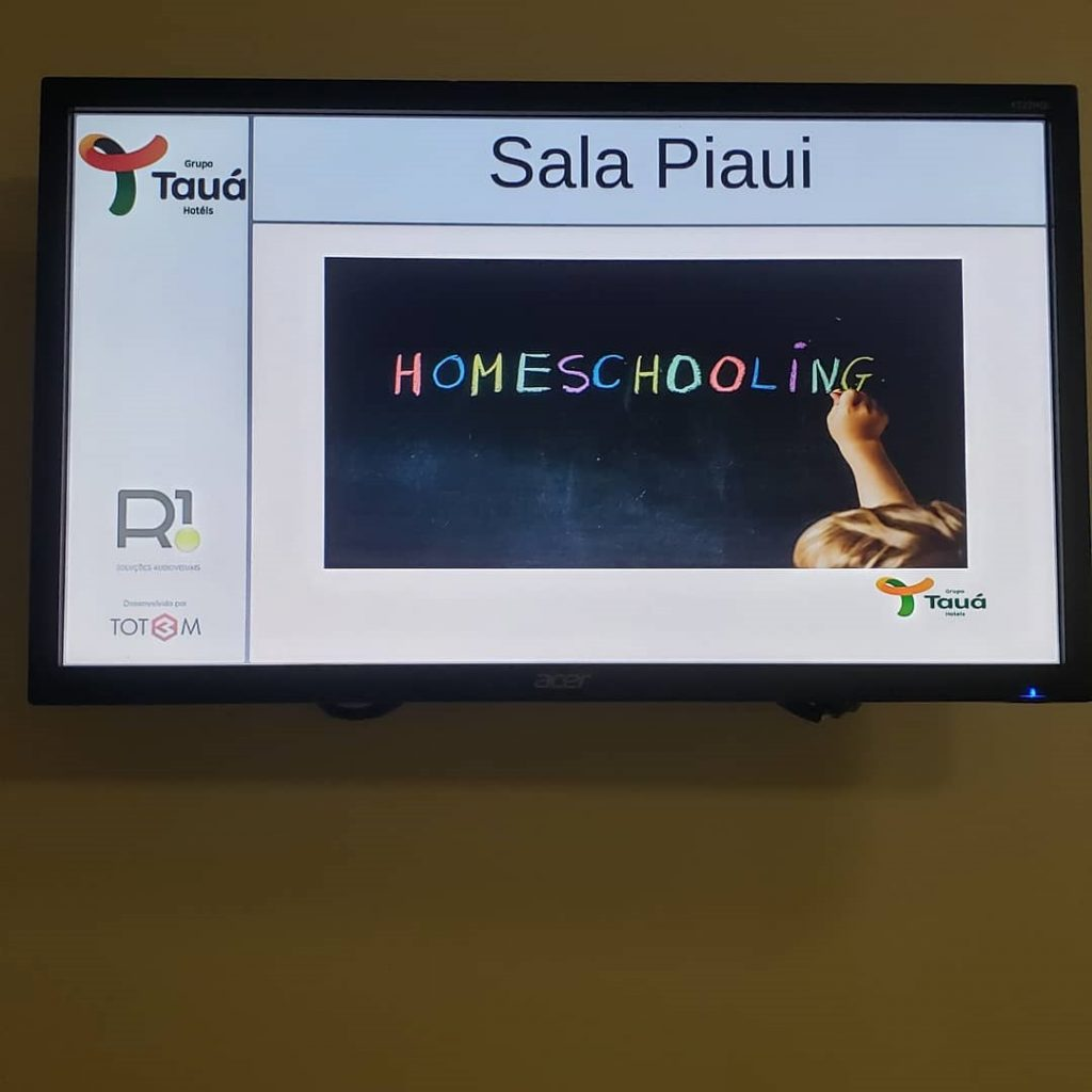 Sala de homeschooling no Tauá Atibaia