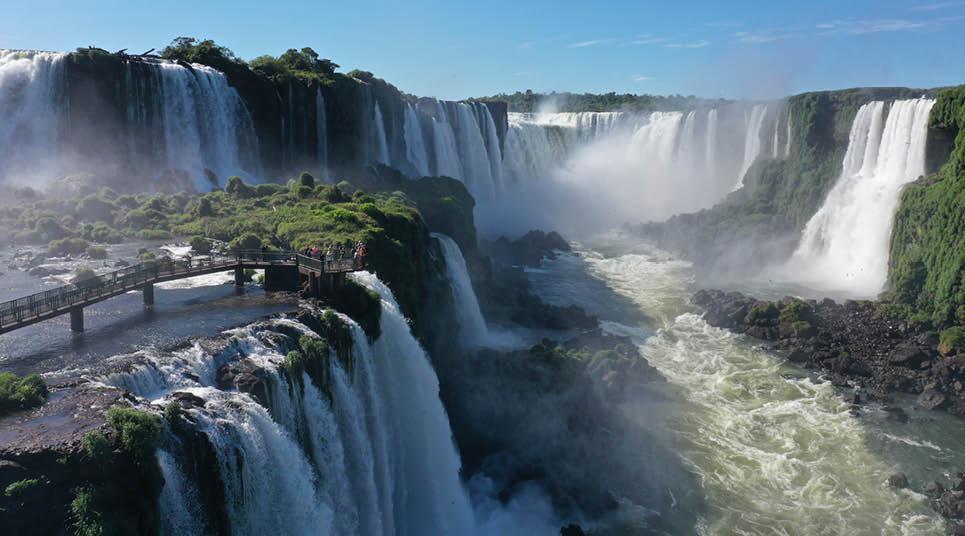 A beleza das quedas d'água