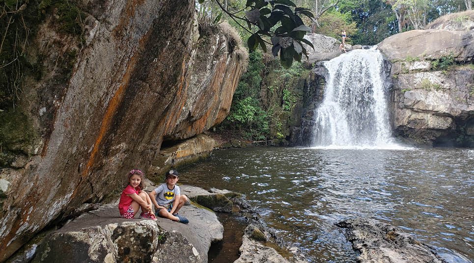 Área de cachoeiras em Cunha